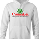Funny cannabis logo cannon camera parody hoodie white