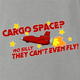 funny Cargo Space Play On Words jared zimmerman car-fix tv show Ash Grey t-shirt