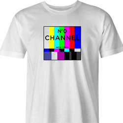 funny Channel 0 classic TV white men's t-shirt
