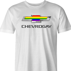 Funny Gay T-Shirt Chevrolet men's t-shirt white