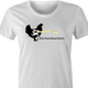 funny chicken rickenbacker guitars white women's t-shirt