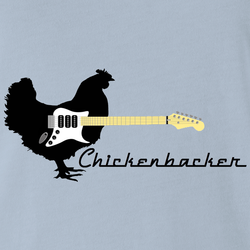 funny chicken rickenbacker guitars white men's t-shirt