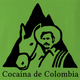 funny Pablo Esobar Cocaine Colombia Coffee Juan Valdez parody lime green t-shirt