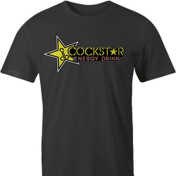 Funny Cock star energy drink parodyblack t-shirt men's