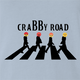 Funny angry emoji t-shirt - crabby road t-shirt light blue