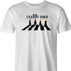 Funny angry emoji t-shirt - crabby road men's t-shirt white