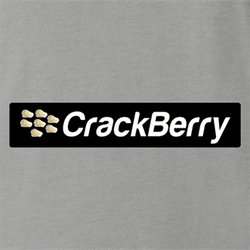 Funny Blackberry parody - Crackberry men's tshirt