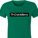 Funny Blackberry parody - Crackberry women's tshirt