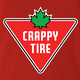 funny Canadian Crappy-Tire Parody Red t-shirt