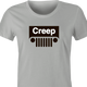 funny Creep Jeep Mashup For Creepy People t-shirt women's Ash Grey