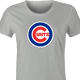 Funny Baseball Chicago Cunts Offensive Parody T-Shirt Women's Ash Grey