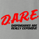 funny marijuana dispensaries are expensive DARE parody ash grey t-shirt