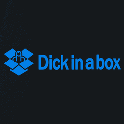 dick in a box dropbox t-shirt white