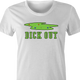 Funny Dick-Out Golf women's t-shirt white