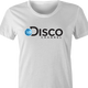 Funny Disco Music Channel Discovery Network Mashup white women's t-shirt