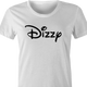 funny dizzy lightheaded disney mashup white women's t-shirt