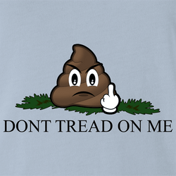 Funny Dont Tread On Me Parody | Step in Poop Parody White Men's T-Shirt