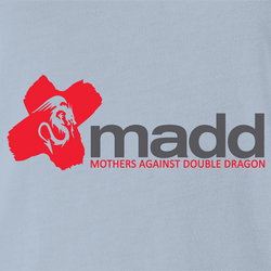 Funny Mothers Against Double Dragon Nintendo Video Game Parody Parody White Men's T-Shirt