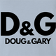 Funny Doug and Gary light blue t-shirt