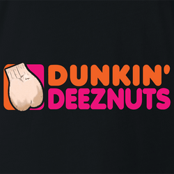 funny deez nuts dunkin donuts men's t-shirt navy