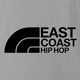 funny east coast hip hop northface rap parody t-shirt grey