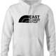 funny east coast hip hop northface rap parody t-shirt white men's hoodie