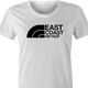 funny east coast hip hop northface rap parody t-shirt white women's
