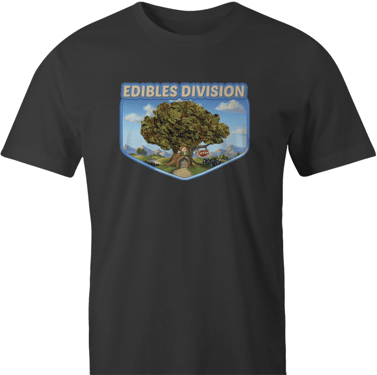 funny weed edible t-shirt keebler elf parody men's black