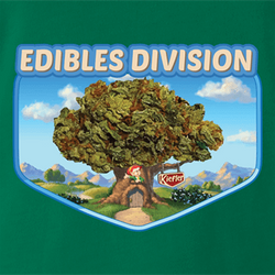 keebler elf edibles weed t-shirt white