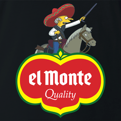 Funny El Monte Senor Burns Simpsons Men's T-Shirt