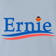 funny Ernie From Sesame Street For President light Blue t-shirt