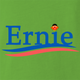 funny Ernie From Sesame Street For President lime green t-shirt