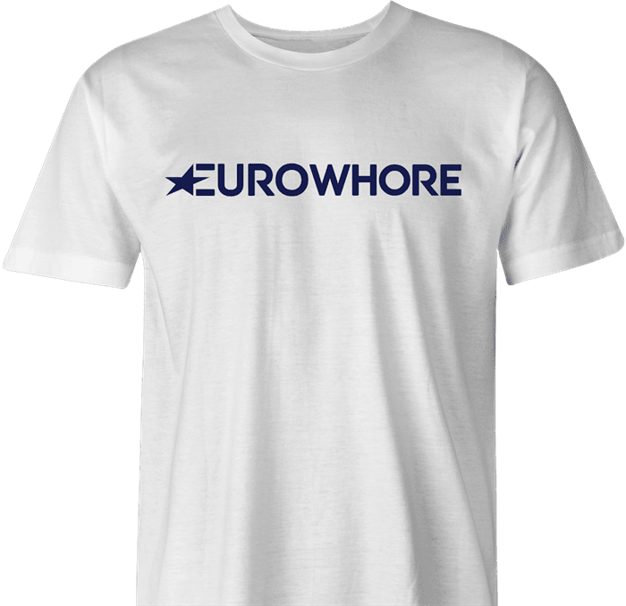 EuroWhore Eurosport TV channel sports FIFA t-shirt men's white