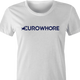 EuroWhore Eurosport TV channel sports FIFA t-shirt women's white