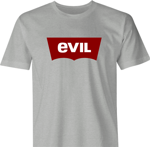 funny levis levi strauss evil ash grey men's t-shirt