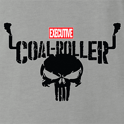 Executive Coal Roller Funny America Truck Parody t-shirt men's white