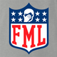 funny FML f my life NFL fanatasy football t-shirt grey