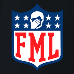 funny FML f my life NFL fanatasy football t-shirt white men's