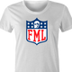 funny FML f my life NFL fanatasy football t-shirt white women's