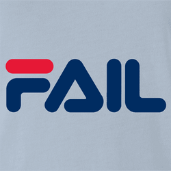fila Fail you suck total fail internet viral parody t-shirt men's white