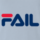 fila Fail you suck total fail internet viral parody t-shirt light blue
