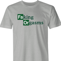 Funny Faking Orgasms Breaking Bad Mashups Parody Men's T-Shirt