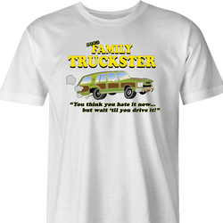 Family Truckster national lampoons family vacation parody t-shirt men's white