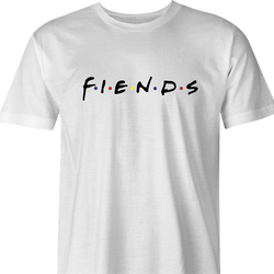 funny Friends TV show parody fiends mens t-shirt white
