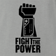 funny fight the power nintendo power glove ash t-shirt