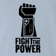 funny fight the power nintendo power glove light blue t-shirt