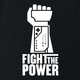 funny fight the power nintendo power glove black t-shirt