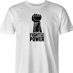 funny fight the power nintendo power glove white t-shirt