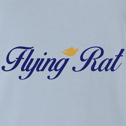Funny Flying Rat Pigeon Dove Parody White Men's T-Shirt