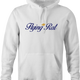 Funny Flying Rat Pigeon Dove Parody white hoodie